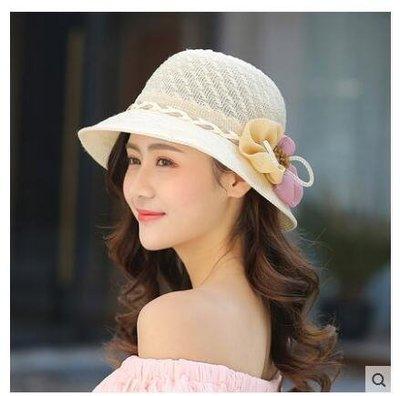 女花朵遮陽夏季可折疊防曬沙灘遮臉太陽帽LYH2311