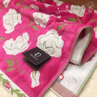 毛巾--日本製dredeel純棉今治玫瑰毛巾34*80cm--秘密花園