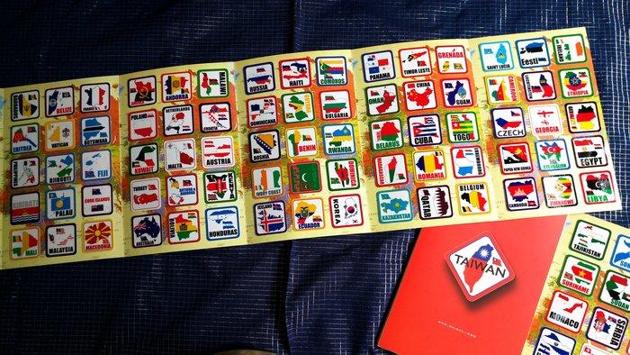 【衝浪小胖】世界國旗領土登機箱貼紙組(一套210款)/防水耐候/Rimowa出國必備