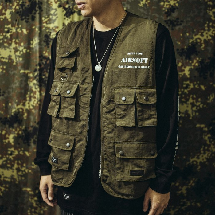 """GHK """"Abstract Collection"""" Airsoft Vest 戰術背心 軍綠色"""