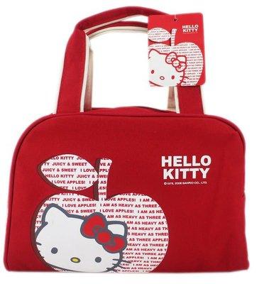 【卡漫迷】 Hello Kitty 餐袋 手提袋 ㊣版 手提包  便當袋  24 x 18cm ~3 2 0 元