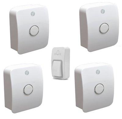 [三永] 最高級經典款 開發票 一對四 室外機免電池 防水 無線門鈴 無線電鈴  兩年換新保固