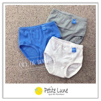 .Petite lune小月亮.童馨男孩棉質羅紋內褲單件