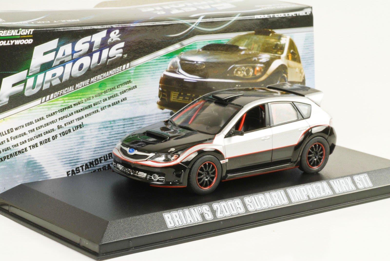 【現貨特價】玩命關頭 布萊恩 1:43 Subaru Impreza WRX STi Fast and Furious