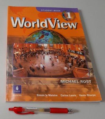 大學英語用書 聽說讀寫 文法 WorldView 1 by Michael Rost(附CD 全新 未使用)