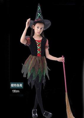 【洋洋小品兒童造型服俏麗小魔女巫婆裝】兒童變裝萬聖節服裝聖誕節服裝表演角色扮演服裝道具化妝舞會面具
