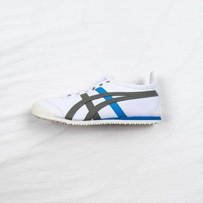 ASICS ONITSUKA TIGER 亞瑟士 白灰藍 休閒運動帆布鞋 男女鞋