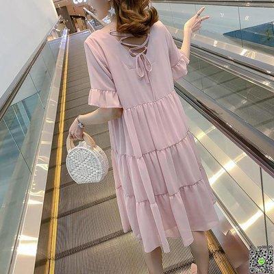 洋裝 孕婦夏裝上衣女2019韓版新款時尚寬鬆雪紡孕婦裙子夏季孕婦洋裝