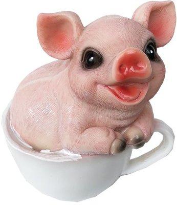 ~~尚盈家飾~~田園鄉村風 茶杯豬D 樹脂娃娃 裝飾 裝潢擺飾 居家店面布置
