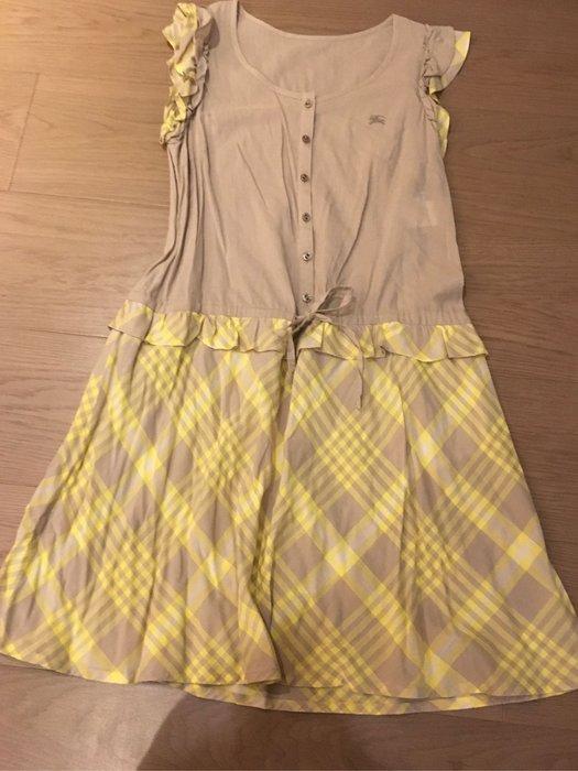 日本藍標 Burberry  黃裙洋裝