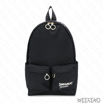 【WEEKEND】 OFF WHITE Quote Backpack 後背包 黑色 20秋冬