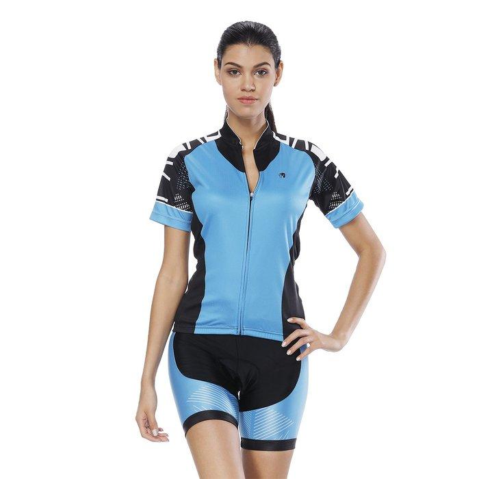 【Paladin】女款短袖車衣褲套裝 :: 藍