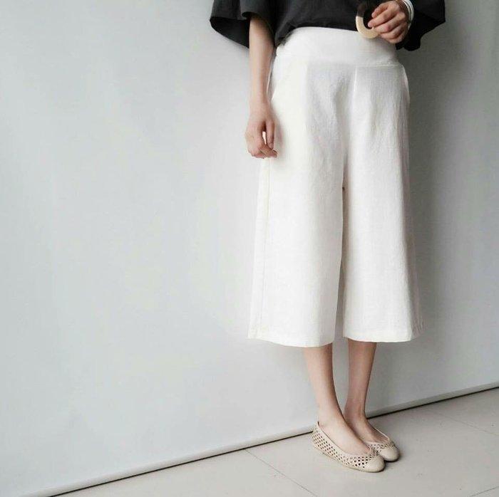 『※妳好,可愛※』韓國童鞋 韓國女裝 韓國棉麻鬆緊8分寬褲 (12色)
