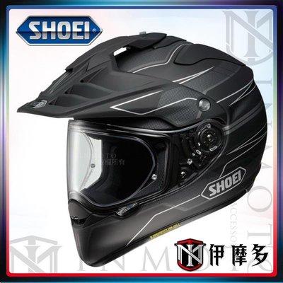 伊摩多※日本SHOEI公司貨 可調PFS HORNET ADV 多功能鳥帽 越野帽。Navigate TC-5 黑白