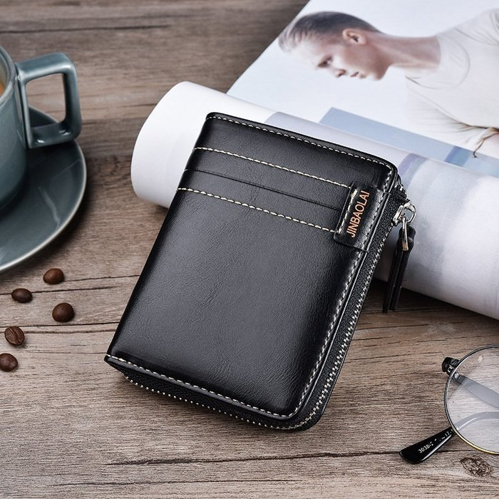 【良品好物】3件免運!韓版男士時尚休閒錢包 男拉鍊零錢包