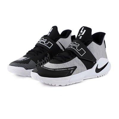 =CodE= NIKE AMBASSADOR XII 魔鬼氈針織籃球鞋(灰黑白) BQ5436-005 LEBRON 男