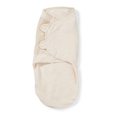 美國Summer Infant/SwaddleMe/懶人包巾 嬰兒包巾 有機棉 米色_現貨【L號】
