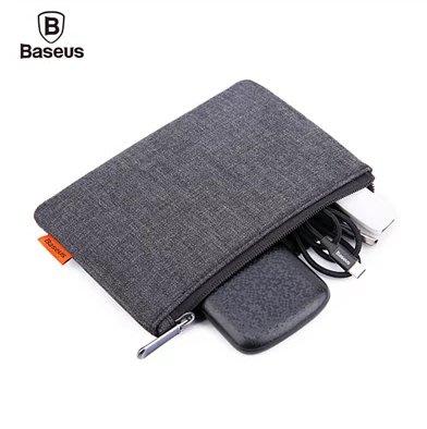 【Baseus 倍思】簡易配件包 收納包 配件包 旅行包 手拿包 皮夾包 迷你錢包 拉鍊袋 零錢包 配件收納包 文青包