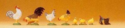 傑仲 (有發票) 博蘭 公司貨 Preiser 動物組 Rooster/hen/chicken 47070