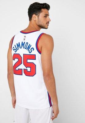 【吉米.tw】NIKE NBA DRY SIMMONS 費城76人西蒙斯 球衣 AV4509-102 NOV