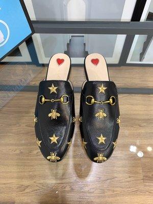 ✤寵愛Pamper for you✤GUCCI羊皮星星蜜蜂涼拖鞋