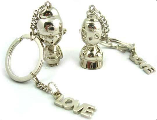☆創意小物店☆情侶鑰匙扣(狀元與官夫人) 鑰匙圈/創意可愛金屬鑰匙圈 時尚造型個性飾品