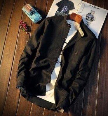 日和生活館 秋季白襯衫男士長袖立領襯衣日韓修身商務寸衣青年男裝休閒工裝潮S686