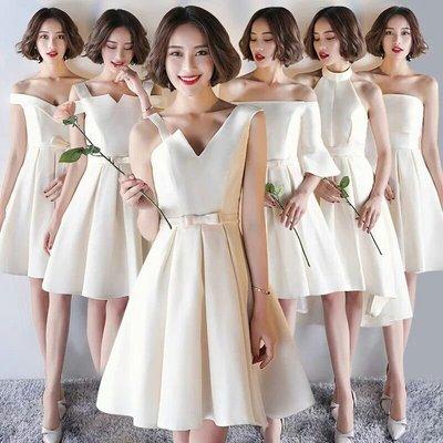 天使佳人婚紗禮服旗袍~~緞面香檳色多款伴娘禮服