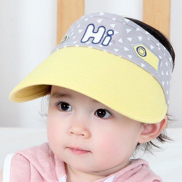 寶寶太 陽帽夏 季男童 防曬遮 陽帽女 孩大檐 鴨舌帽 1-4 歲嬰兒 空頂帽  薄 帽子 防曬帽  兒童帽子 太陽帽 正韓
