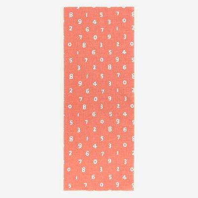 [現貨35*90公分] 京都 SOU SOU  伊勢木棉 生地/布料 - 橘紅色數字 #口罩布