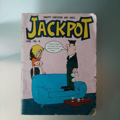 【快樂書屋】JACKPOT-Snappy Cartoons and Jokes-Picture Magazines 1971 Vol.6 No.4成人笑話漫畫