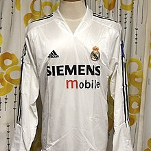 皇家馬德里 Real Madrid 04-05 CL Home LS size XL BNWT