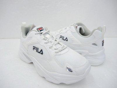 5號倉庫 FILA MONSTER 1-J907U-113 男 老爹鞋 復古慢跑鞋 穿搭 厚底 白 休閒 原價2180