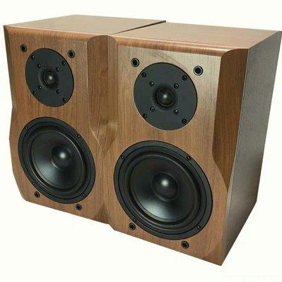 櫻桃木6.5寸高低二分頻Hifi音箱優質木質書架式桌面6寸無源音箱