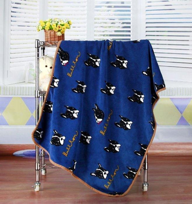 【皮蛋媽的私房貨】BED0135法鬥-鬥牛犬柔軟寵物毯-毛毯-睡墊/小毯子/小棉被.睡毯-珊瑚絨嬰兒毯-狗被被貓毯