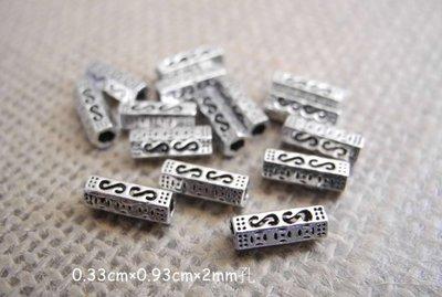 ☆  D.B手創925銀飾批發 ☆ 990純銀 DIY材料  S型菱管 配件 單顆