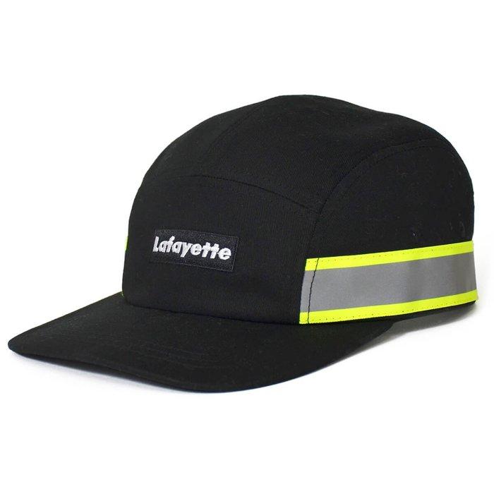 { POISON } LAFAYETTE HIGH-VIS SMALL LOGO JET CAP 螢光反光設計五片帽