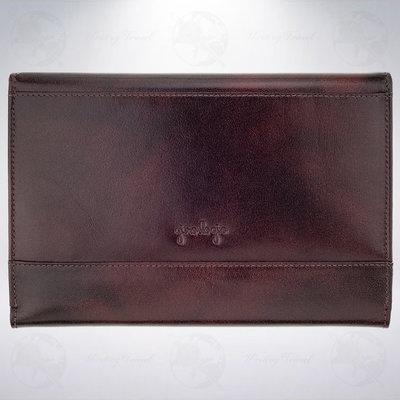 美國 Girologio Penfolio 12支裝文件夾式筆袋: 深紅色/Oxblood