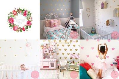 Sis 歐美 愛心壁貼 時尚 女孩房 嬰兒房 裝飾 IKEA家飾品