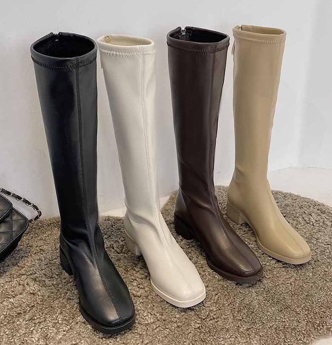SeyeS  個性英倫歐美時尚百搭細腿基本款長靴