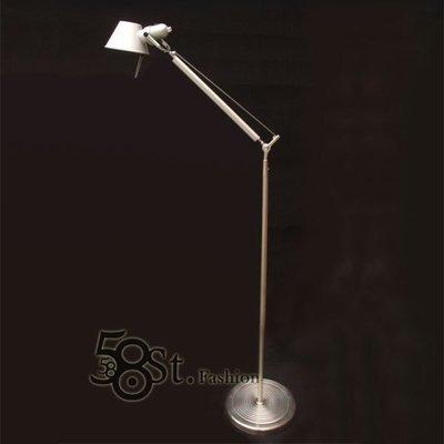 【58街】義大利設計師款式「稻草人Tolomeo reading floor lamp落地燈」。複刻版。GU-106