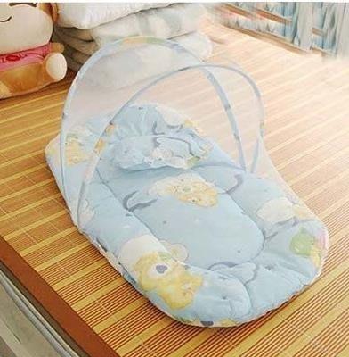 現貨/嬰兒蚊帳免安裝可折疊開門式寶寶BB有底蒙古包新生幼兒童床蚊帳罩128SP5RL/ 最低促銷價