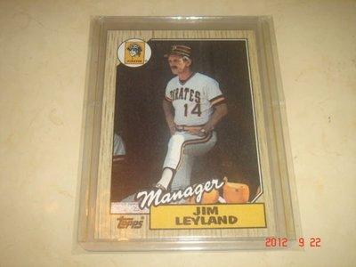 美國職棒 Tigers Manager Jim Leyland  1987 Topps #93 球員卡