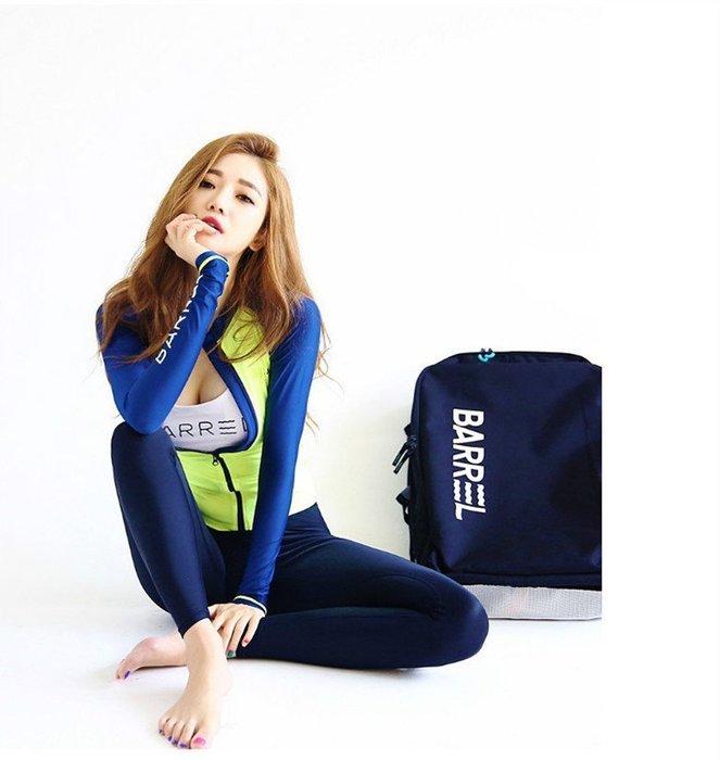 2018韓版女潛水服 比基尼長袖泳衣 浮潛水母衣 四件套防曬緊身沙灘衣戶外運動服