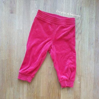 【One piece】現貨 瑞典品牌 H&M 幼童 秋冬裝  紅色 絨毛長褲 男女可穿