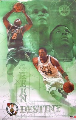 NBA塞爾蒂克渥克.皮爾斯Boston Celtics Green Destiny 原版海報