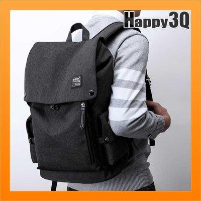 男後背包筆電後背包書包旅行包電腦包筆電包雙肩包-黑灰/黑/灰【AAA1982】預購