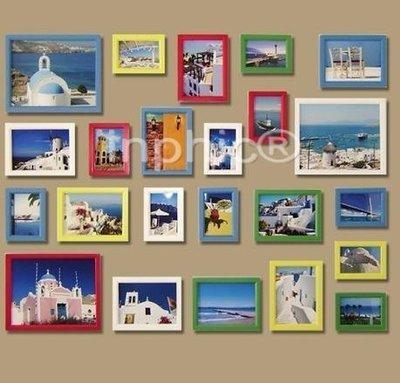 INPHIC-23框新款彩色實木照片牆相框牆照片牆相框組合畫框