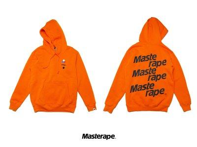 Cover Taiwan 官方直營 Masterape 帽Tee 帽T 大學T 連帽 衛衣 橙色 橘色 白色 (預購)
