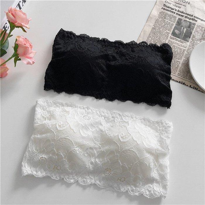 夏裝女裝新款韓版短款蕾絲裹胸美背百搭抹胸防走光少女無肩帶內衣